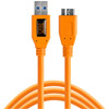 TetherPro USB 3.0 Male to Micro B 5 Pin 15' Orange