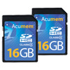 16GB Dual Pack SDHC Pro Cards Class 10