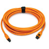 TetherPro Firewire 800, 9pin to 9pin 15', Orange