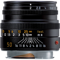 Leica50mm f/2.0 Summicron-M Black Lens (E39)