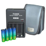 CanonA Series Accessory Power Pack Case, 4AA NiMH, Charger