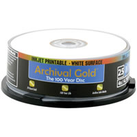DelkinDVD-R 4.7GB GOLD Scratch Armor Archival Media 25 Spindle