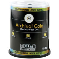 DelkinCD-R 700MB GOLD Archival Disc with Scratch Armor 100 Spindle