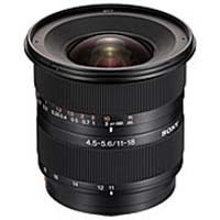 SonyDT 11-18mm f/4.5-5.6 Wide Angle Zoom Lens
