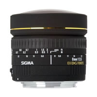 SigmaAF 8mm f/3.5 EX DG Circular Fisheye Lens for Canon