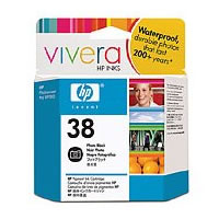 Hewlett-PackardC9413A HP38 Photo Black Pigment Ink Cartridge