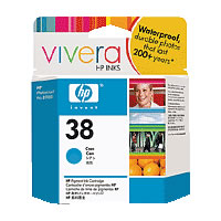 Hewlett-PackardC9415A HP38 Cyan Pigment Ink Cartridge