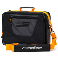 CineBagsCB-17 Laptop Bag Black/Gray/Orange