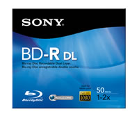 Sony50GB 2X BD-RE Blu-Ray Branded 1PK