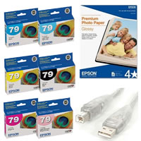 EpsonStylus Photo 1400 Starter Kit Includes Inkset, USB Cable and 13
