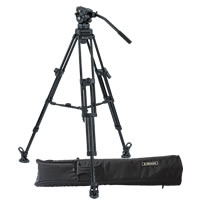 E-ImageEI-7060 Series Video Tripod Kit with AT7402 Tripod, 7060H Head, Adjustable Mid-Spreader and Soft Case