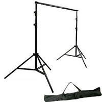 PhotoflexPro Duty Backdrop Support Kit includes 2 Stands, 1 Telescopic Pole and Carry Bag