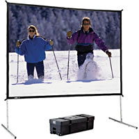 Da-Lite8'x12' Da-Mat Fast-Fold Deluxe Screen Video Forma with black frame & case