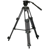 VarizoomAluminum Video Tripod w/75mm Fluid Head and Carry Case