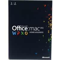 MicrosoftOffice Mac 2011 Home Business 1 User/2 Install ENG DVD