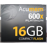 Acumem16GB Platinum CF Card 600x