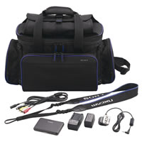 SonyACC-VA1BP Accessory Kit for HXR-NX70, NX3D1 & MC50 w/Bag, Battery, Charger, Remote