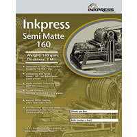 InkPress Media8.5'' x 11'' Semi Matte 160gsm 50 Sheets