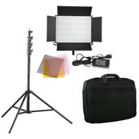 LED GoLG-1200CP LED Video Light With Carrying Bag And Light Stand