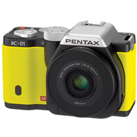 PentaxK-01 Yellow Kit w/ smc DA 40mm f/2.8 XS Lens