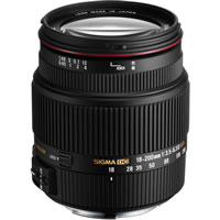 SigmaAF 18-200mm f3.5-6.3 DC OS II HSM Zoom Lens for Canon