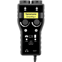 Saramonic SmartRig+ Mic/Guitar Interface for DSLR Camera, Camcorder, iOS and Android Devices