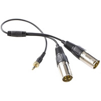 Saramonic SR-UM9-CC1 Replacement Stereo Locking Type 3.5mm Mini to Dual XLR Splitter Cable for UwMic9