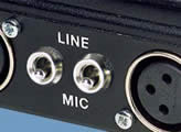 Separate MIC/LINE level switches for each input