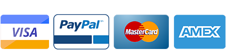 Visa, Paypal, Mastercard, American Express