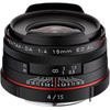 HD Pentax-DA 15mm f/4 ED AL Lens - Black