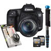 7D Mark ll Bundle w/ 32GB SDHC Card, Cleaning Set and WalkAbout Convertible Monopod (Blue)
