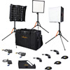 BI-FLEX1 Bi-Color 3 LED Light Kit with Case Incl. Panel, Dimmer, Holder, Stand Mount, Diffuser