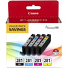 CLI-281 - BK,C,M,Y 4-Color Ink Tank Value Pack