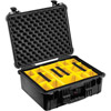 1554 Waterproof 1550 Case with Yellow and Black Divider Set (Black)