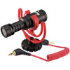 VideoMicro Compact On-Camera Microphone with Red Lyre