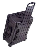 1610 Case Black w/Dividers w/Retractable Handle & Wheels