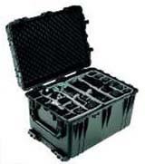 1660 Case Black Empty w/Retractable Handle & Wheels