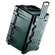 1660 Case Black w/Dividers w/Retractable Handle & Wheels
