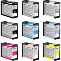 EpsonStylus Pro 3800 Color Ink Set 9 Cartridges