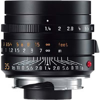 Leica35mm f/1.4 ASPH Summilux-M Black Lens (E46)