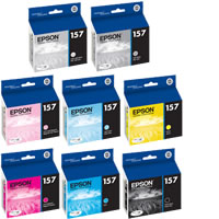 EpsonStylus R3000 Color Ink Set 8 Cartridges w/Photo Black