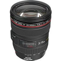 CanonEF 24-105mm f/4.0L IS USM Zoom Lens - Open Box