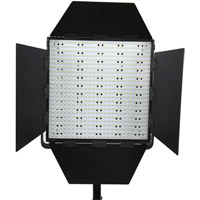 LED Go LG-600S LED Light 5600K with V Mount, Barndoors, Diffuser, DC Adapter and Filters