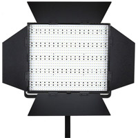 LED GoLG-900S LED Light 5600K with V Mount, Barndoors, Diffuser, DC Adapter, 3200K & Green Min