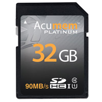 Acumem32GB SDHC UHS-1 Card 90MB/s