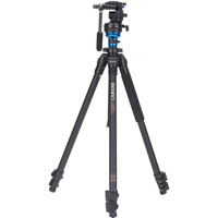 BenroA1573FS2 Aluminum Video Tripod Kit - Single Legs with S2 Video Head and Bag