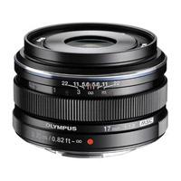 OlympusM.Zuiko 17mm f/1.8 Black Lens