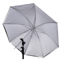 "Illumi 45"" Umbrella - White with Black Removable Cover"