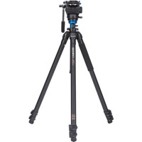 Benro A2573FS4 Aluminum Video Tripod Kit - Single Legs with S4 Video Head and Bag