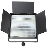 Nanguang CN-600SA LED Light 5600K with V Mount, Barndoors, Diffuser, AC Adapter and Filters